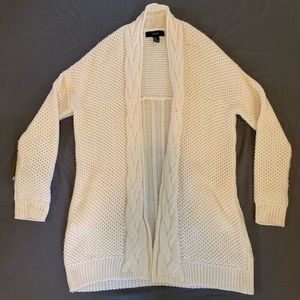 Cream oversized cardigan